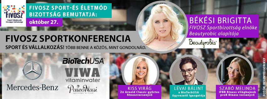 FIVOSZ Sport Konferencia – SPORT ÉS VÁLLALKOZÁS! Több benne a közös, mint gondolnád – október 27.