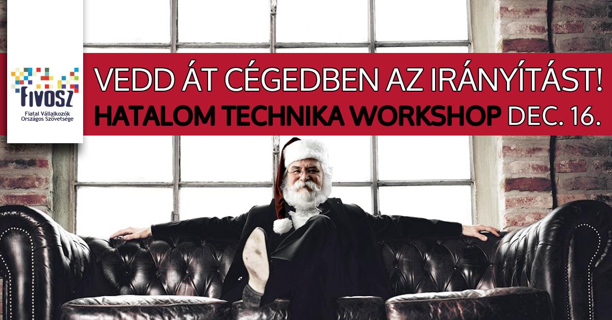 Hatalomtechnika workshop – 12.16. Lépj szintet fiatal vállalkozóként!
