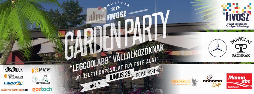 FIVOSZ Garden Party – június 29-én – 90 ügyvezetővel, és Veled!
