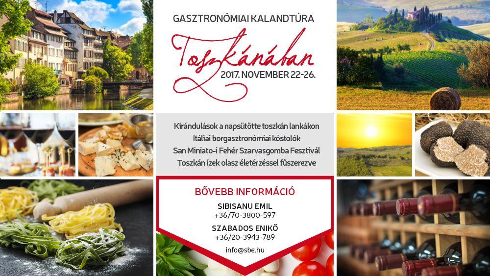 Csatlakozz Te is a Gasztronómiai kalandtúra Toszkánában programhoz!
