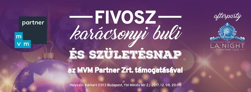FIVOSZ karácsonyi buli és születésnap az MVM Partner Zrt. támogatásával