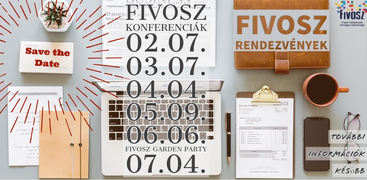 SAVE THE DATE – FIVOSZ Rendezvények
