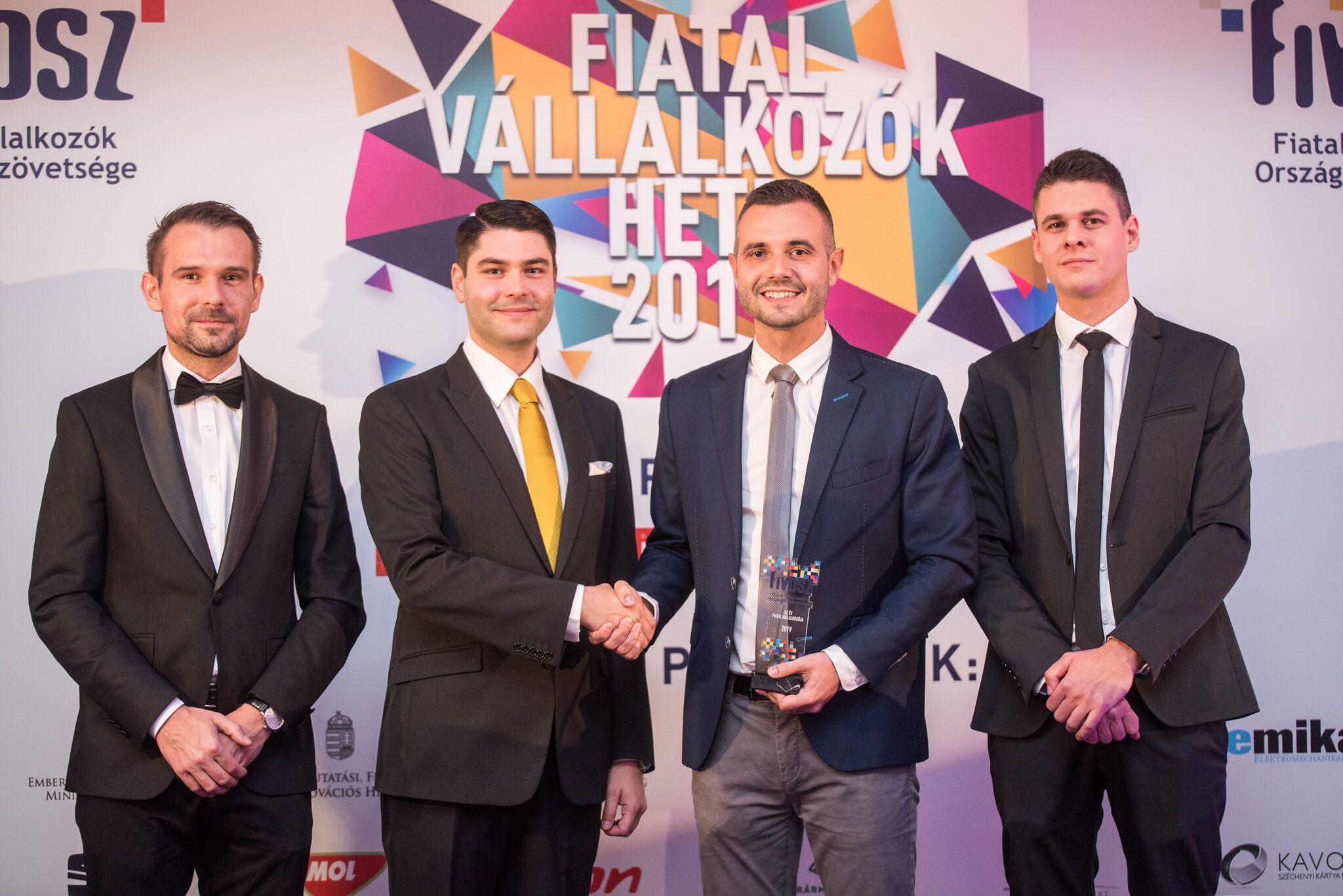Zajdó Csaba az Év Fiatal Vállalkozója díj nyertese