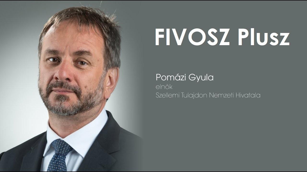 FIVOSZ Plusz – Szellemi tulajdon védelem – Pomázi Gyula Szellemi Tulajdon Nemzeti Hivatalának elnöke
